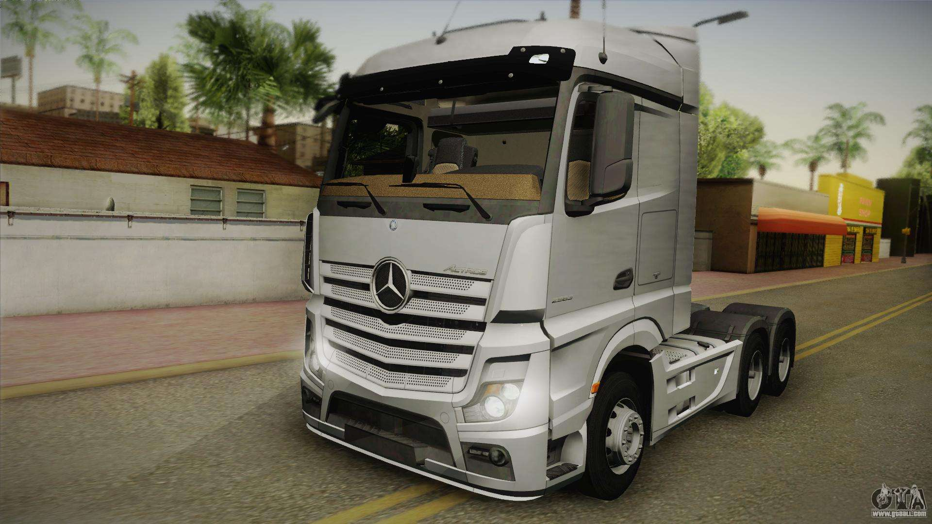 mercedes benz actros mp4 6x4 v2 0 steamspace v2 for gta. Black Bedroom Furniture Sets. Home Design Ideas