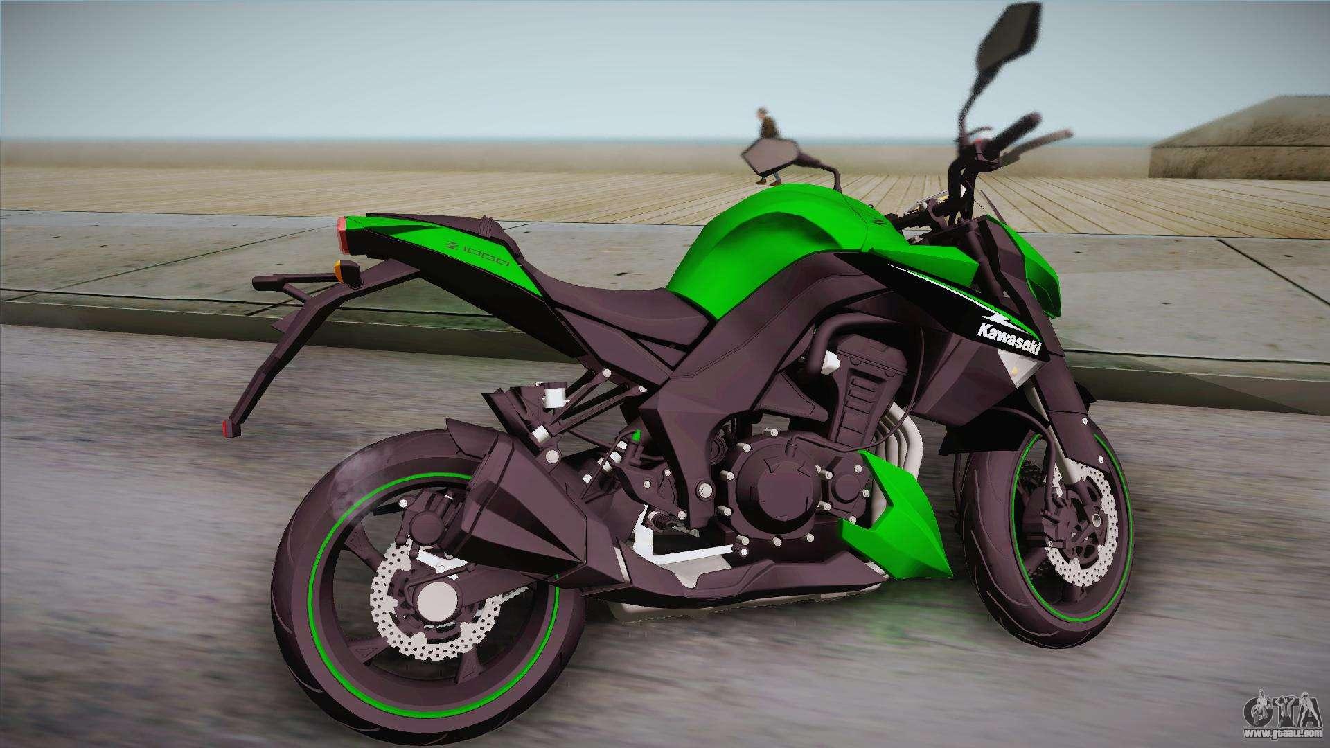 Kawasaki Z1000 2013 For GTA San Andreas Left View