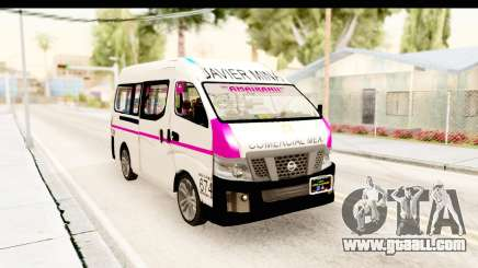 Nissan NV350 Urvan Comercial Mexicana for GTA San Andreas