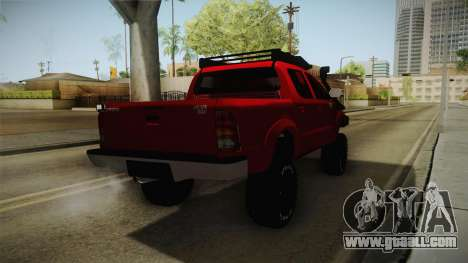 Toyota Hilux 2010 Venezolana de Off Road for GTA San Andreas back left view