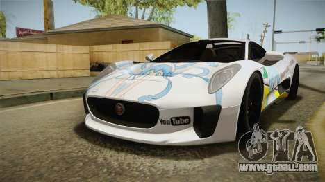 Jaguar C-X75 Ika Musume Itasha for GTA San Andreas