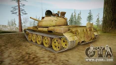 T-62 Desert Camo v3 for GTA San Andreas back left view