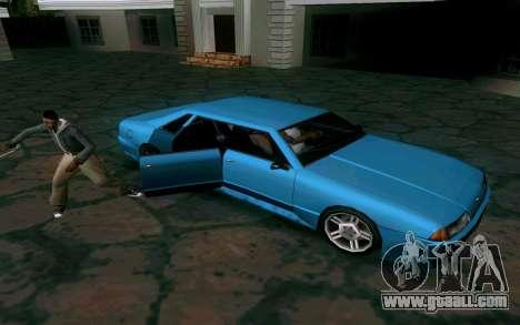 Elegy Sedan for GTA San Andreas back view