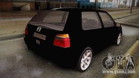 Volkswagen Golf Mk3 Blyatmobile for GTA San Andreas left view