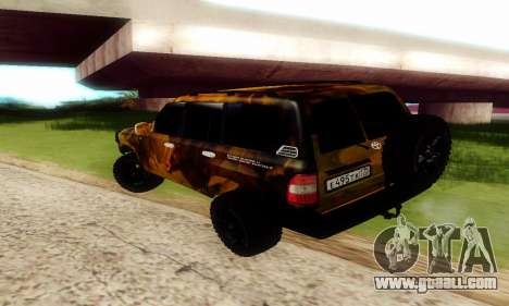 Toyota Land Cruiser 105 for GTA San Andreas inner view