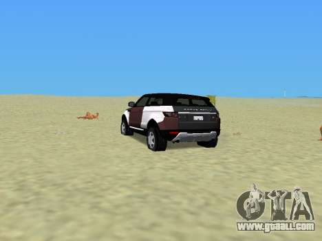 Range Rover Evoque for GTA Vice City