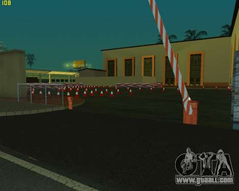 The circuit, as in driving school for GTA San Andreas