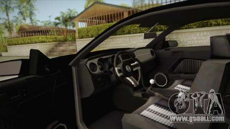 Ford Mustang GT500 for GTA San Andreas inner view