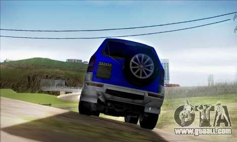 Mitsubishi Pajero 3 Beta for GTA San Andreas right view