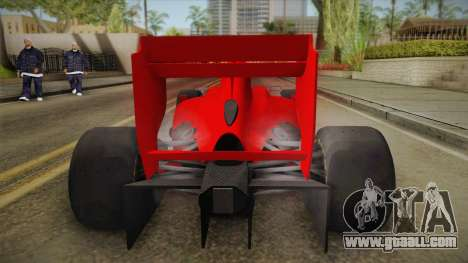 Lotus F1 T125 for GTA San Andreas back view