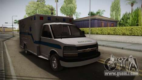 Chevrolet Express 2011 Ambulance for GTA San Andreas right view