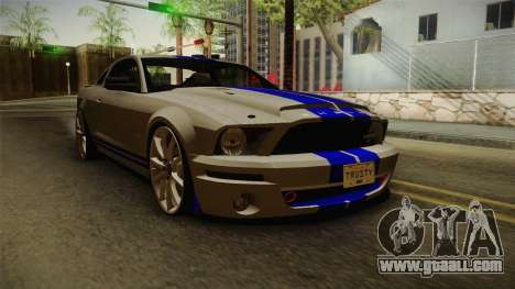Ford Mustang Shelby GT500KR Super Snake for GTA San Andreas back left view