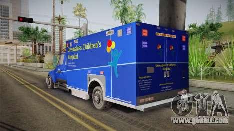 International Terrastar Ambulance 2014 for GTA San Andreas left view