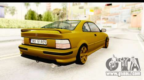 Rover 220 Gold Edition for GTA San Andreas right view