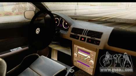 Volkswagen Bora Pickup for GTA San Andreas inner view