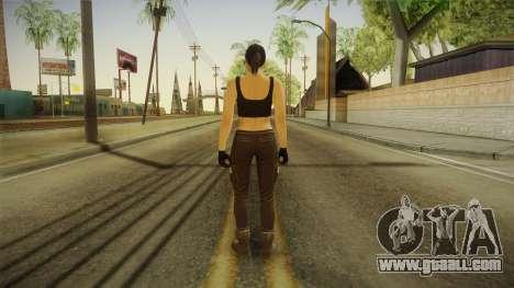 GTA 5 Heists DLC Female Skin 2 for GTA San Andreas third screenshot