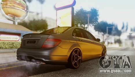 Mercedes-Benz C63 AMG w204 for GTA San Andreas back left view