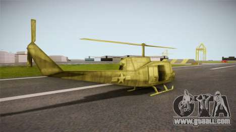 Bell UH-1H from Army Men: Serges Heroes 2 DC for GTA San Andreas left view