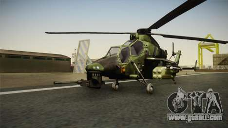 Eurocopter Tiger Extra Skin for GTA San Andreas
