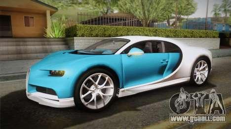 Bugatti Chiron 2017 v2.0 Italian Plate for GTA San Andreas back view