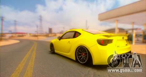Toyota GT86 2015 Stance for GTA San Andreas left view
