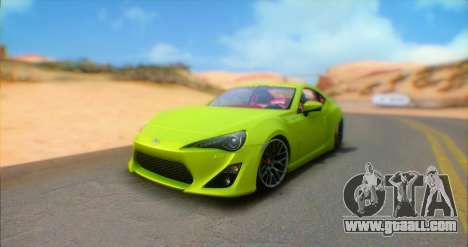 Toyota GT86 2015 Stance for GTA San Andreas