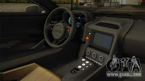 Jaguar C-X75 Ika Musume Itasha for GTA San Andreas inner view