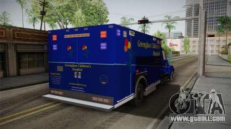 International Terrastar Ambulance 2014 for GTA San Andreas back left view
