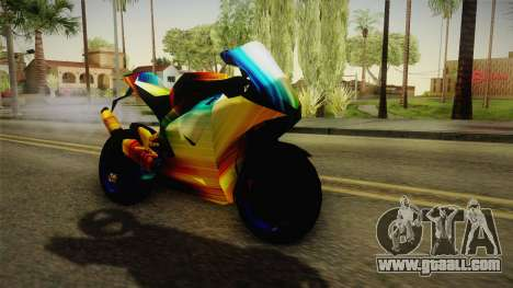 Rainbow Motorcycle for GTA San Andreas