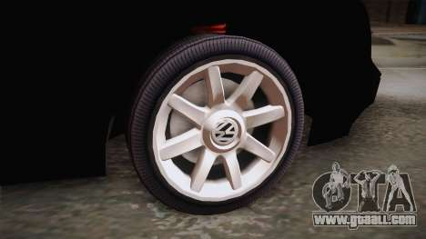 Volkswagen Golf Mk3 Blyatmobile for GTA San Andreas back left view