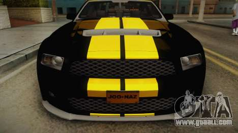 Ford Mustang GT500 for GTA San Andreas back left view