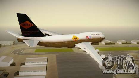 Boeing 747-400 FlyUS with NMB Logo for GTA San Andreas right view