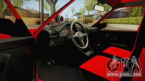 BMW M3 E30 Sedan for GTA San Andreas inner view