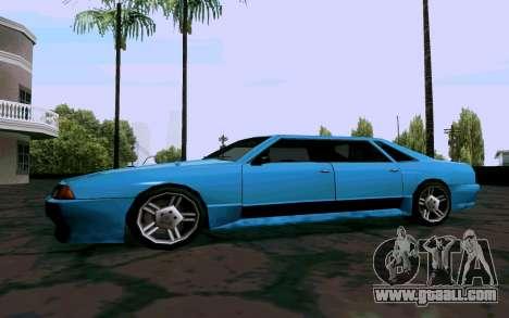 Elegy Sedan for GTA San Andreas back left view