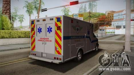 Chevrolet Express 2011 Ambulance for GTA San Andreas back left view