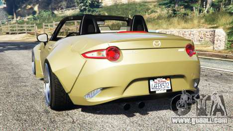 GTA 5 Mazda MX-5 2016 Rocket Bunny v0.1 [replace] rear left side view