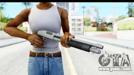 Tactical Mossberg 590A1 Chrome v1 for GTA San Andreas third screenshot