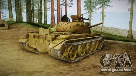 T-62 Desert Camo v3 for GTA San Andreas left view