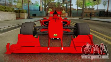 Lotus F1 T125 for GTA San Andreas right view