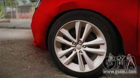 Lada Vesta Sedan for GTA San Andreas back left view