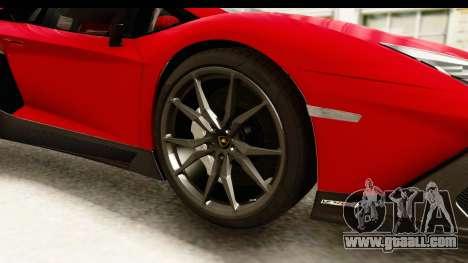 Lamborghini Aventador LP720-4 2013 for GTA San Andreas back view