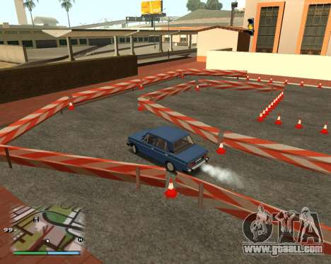 The circuit, as in driving school for GTA San Andreas fifth screenshot