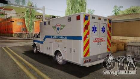 Chevrolet Express 2011 Ambulance for GTA San Andreas