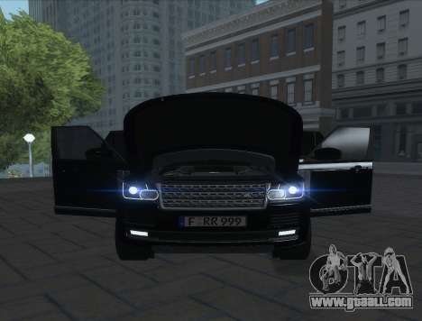 Land Rover Range Rover Vogue for GTA San Andreas back left view