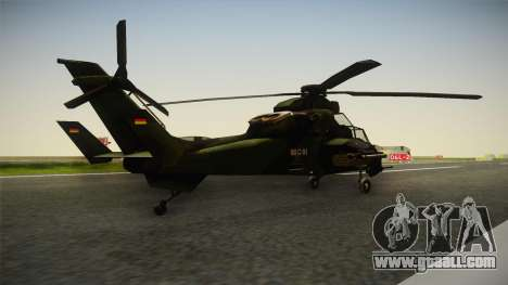 Eurocopter Tiger Extra Skin for GTA San Andreas back left view
