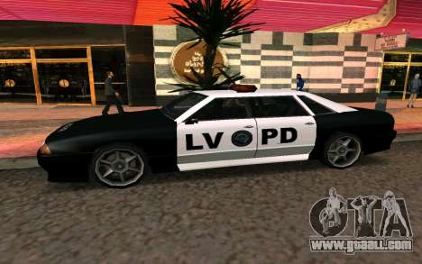 Elegy Police for GTA San Andreas left view