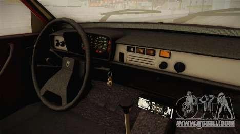 Dacia 1310 TX 1986 v2 for GTA San Andreas inner view