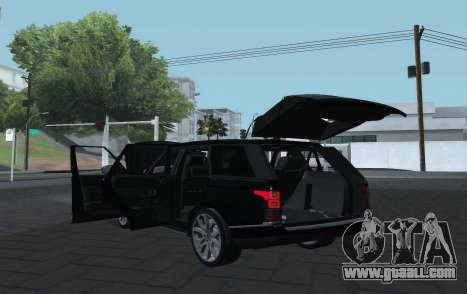 Land Rover Range Rover Vogue for GTA San Andreas back view