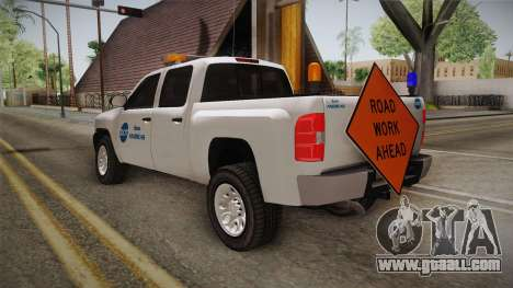 Chevrolet Silverado 2009 SA DOT for GTA San Andreas back left view