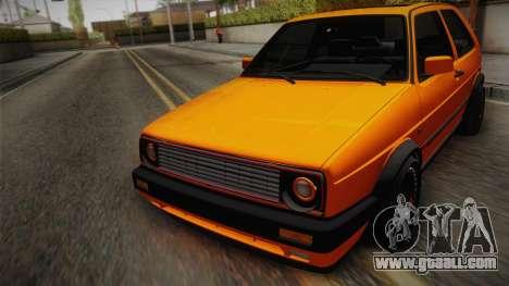 Volkswagen Golf Mk2 GTI .ILchE STYLE. for GTA San Andreas inner view